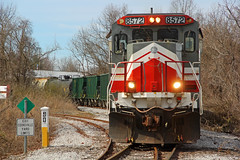 NERR 8572, Cookeville Yard Limits, Cookeville, TN, 02-13-19 (mikeball1374) Tags: nashvilleandeastern nerr cookeville tennessee ge b398e shortline train transportation trainphotography trains railfanning railroad photography locomotive lmx freighttrain standardcab