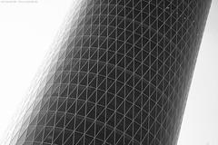 Spaceinvader - Frankfurt 6/66287 (KnutAusKassel) Tags: bw black white blackwhite nb noir blanc monochrome schwarz weiss noire blanco negro grey gray grau einfarbig fine art architektur architecture building gebäude geometrisch himmel frankfurt