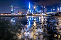 Bokeh bridge (martijnvdnat) Tags: rotterdam winter architectuur avond bokeh kopvanzuid licht nacht stad stadsfotografie stadsverlichting stedelijk zuidholland nederland nl