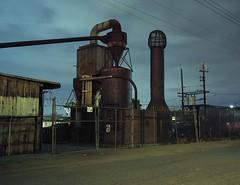 Factory at night (ADMurr) Tags: la eastside industrial night factory geometry clouds toyo lf 4x5 135mm kodak ektar dad661