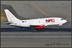 N320DL Northern Air Cargo - NAC (now C-GGUL) (Bob Garrard) Tags: n320dl northern air cargo nac cggul delta lines kaycee aerospace boeing 737200 737 anc panc tire smoke