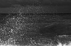 Splashhhhh ..... (Marco_964) Tags: bn bnw blackwhite blackandwhite sea seascape wave clubromanofotografiabw landscape onde mare pentax pentaxk50 pentaxiani pentax1685 pentaxflickraward photobw drops splash water acqua roma fiumicino oceano mediterraneo ocean