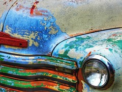 A Little Color (2n2907) Tags: colorful abandoned car rusty classic chevrolet