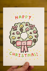 Christmas card (roboppy) Tags: bergen norway doodle card imadethis christmas