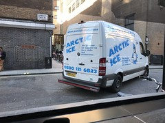 This brand name will age well (Steve Bowbrick) Tags: van ice delivery london ramilliesplace ramillies street photographersgallery arctic