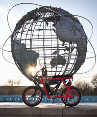 The world is your ride on! (NYC sharpshooter) Tags: nyc big apple queens flushing bike ebike bicycle electric ride technology biker battery sport transportation city modern eco biking outdoor cyclist power lifestyle active outdoors mobility pedelec hybrid urban cycle e mountain energy motion environment recreation nature helmet green trail transport alps mountainbike travel caucasian motor job summer woman charge leisure terrain riding sunsets newyorkcity juicedbikes minibike sunset