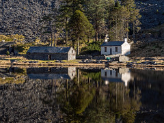 Mirror-Image (Howie Mudge LRPS BPE1*) Tags: cwmorthin lake water trees house barn reflection mirrorimage gwynedd wales cymru uk travel adventure panasonicg9 microfourthirds mft m43