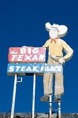 The Big Texan (dangr.dave) Tags: amarillo tx texas downtown historic architecture neon neonsign bigtexan steakhouse cowboy vaquero