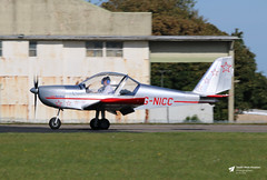 G-NICC Cosmik Aviation EV-97 Teameurostar UK, Cotswold Airport, Kemble, Gloucestershire (Kev Slade Too) Tags: gnicc cosmikaviation ev97 teameurostaruk egbp cotswoldairport kemble gloucestershire