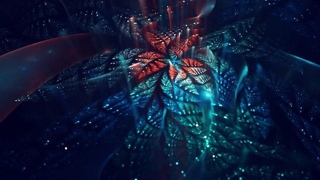 Обои фрактал, цветок, блеск, fractal art картинки на рабочий стол, фото скачать бесплатно