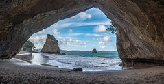 Cathedral Cove, Hahei, NZ (David Hamments) Tags: cathedralcove nz panorama coromandalpeninsula hahei fantasticnature flickrunitedaward