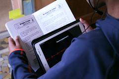 Atelier lecture tablette 2 CP Rotonde © BB (1) (villenevers) Tags: rotonde tablette tablettes numérique enfant élève hootoo primaire école classe