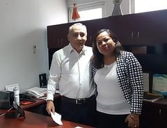 Con la Regidora de Salud de San Francisco Telixtlahuaca, Marisol Ramos Chávez trabaja nuestro coordinador Heliodoro_hcde en reforzar las acciones en materia de ProtecciónCivil
