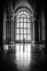 Reggia di Caserta (Francesco Colaceci) Tags: italy caserta reggiadicaserta sony a7iii blackandwhite portrait backlight indoor light glass historic travel landscape city europe art tourism column