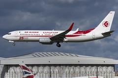 7T-VKM / Boeing 737-8D6(W) / 60749/5884 / Air Algérie (A.J. Carroll (Thanks for 1 million views!)) Tags: 7tvkm boeing 7378d6 737800 737 738 607495884 cfm567b27 airalgérie 25th737ng cqfg 0a008c london heathrow lhr egll 27l