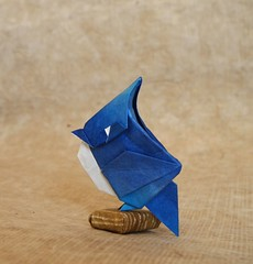 【Origami】Blue Jay (Lonely-Shiba) Tags: origami original bird 折り紙