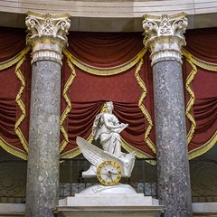 Once Was Night (dayman1776) Tags: usa america american national statuary hall square clio history goddess god clock column columns classical neoclassical boat marble chariot sculpture statue escultura skulptur sculptor sculptures statues rotunda capitol capital zodiac