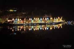 """Reflection"" (Terje Helberg Photography) Tags: cabin coastalenvironement colorful dock lights longexposure mirror night nightscape nightshot reflection sea seascape seaside water"