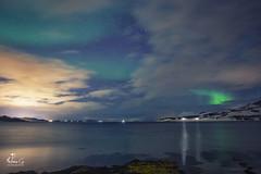 (Antoineos G.) Tags: norvège aurore boréale aurora borealis norway lofoten sea ocean mer rocks nuages cloud snow neige paysage ciel montagne eau plage baie océan pierre côte
