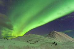 Aurora-Norway-2 (A. Gosewehr) Tags: aurora auroraborealis sky night stars horizon green bands snow norway nordlicht sterne himmel schnee grün light mountains winter frost ice