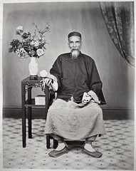 Hotz collection: Guangzhou physician, ca. 1870, by Lai Afong (Charles in Shanghai) Tags: charles shanghai albert hotz albertus paulus hermanus holland china trading company handelscompagnie rotterdam universiteit leiden university bibliotheek bijzondere collecties special collections early photography libslibs librariesandlibrarians hchc haagsche courant nrc delphernl perzië john thomson london mattie boom rijksmuseum everyoneaphotographer exhibition gwulo guangzhou kanton canton bw blackandwhite monochrome chinese physician flower