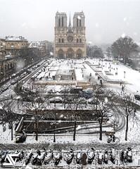Under snow (A.G. Photographe) Tags: anto antoxiii xiii ag agphotographe paris parisien parisian france french français europe capitale d850 2470vr notredame cathédrale snow neige