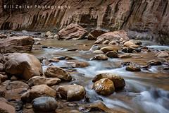 Symphony of Boulders, Virgin River Narrows, Zion N.P., Utah (zellerw0) Tags: slotcanyon utah southwest desert nationalpark virginriver zion narrows hiking