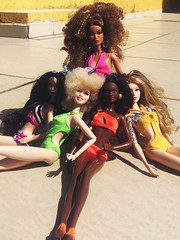 (zadolls) Tags: barbie collector aa black basic gigi hadid luciana albina white joan jett