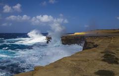 Moody Mediterranean (CraDorPhoto) Tags: canon6d coast coastline landscape sea roughsea waves crashingwaves mediterranean sky blue outdoors nature gozo malta