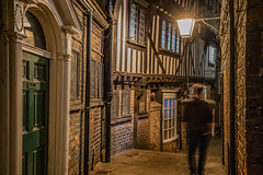In the air tonight (York, Yorkshire, United Kingdom) (AndreaPucci) Tags: york yorkshire ladypeckettsyard uk andreapucci night alley medieval