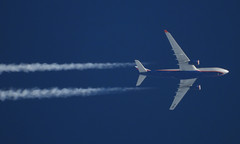 VQ-BBG (zhirenchen) Tags: cruise high altitude contrail stream cloud trail vapor tail track steam chemtrail rnav nikon coolpix p1000 megazoom telephoto telescope 3000mm jet plane airplane spotting aircraft airline airliner flight flightradar24 fr24 airbus a330 a332 a330200 330200 330 332