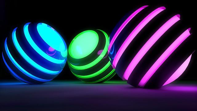 Обои шары, полосы, свечение, яркий картинки на рабочий стол, фото скачать бесплатно