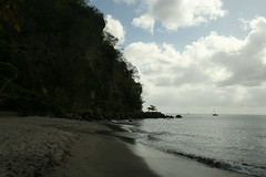 Anse Mamin - St Lucia (h_savill) Tags: 2019 february feb holiday travel vacation tourist trip explore worldwide st lucia caribbean antilles windward isle soufriere piton view landscape beach sea water marine anse chastanet ansechastanet sand ocean boat stlucia