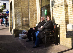 Its Behind You (Bury Gardener) Tags: streetphotography street streetcandids snaps strangers candid candids people peoplewatching folks nikond7200 nikon england eastanglia uk burystedmunds britain 2019 suffolk bench cornhill
