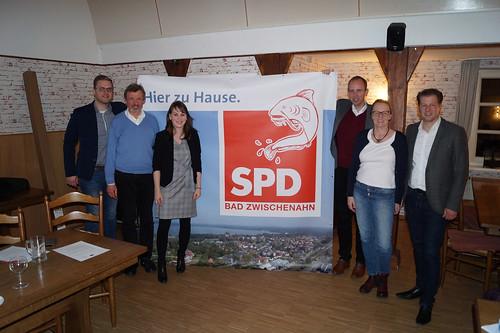 """Mit der SPD Bad Zwischenahn habe ich das neue Logo des Ortsvereins eingeweiht - und unter anderem über die """"Wunderline"""" diskutiert."""
