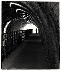 """""""Stranger In The Tunnel...."""" (Phil Dodd CPAGB BPE2*) Tags: monochromephotography fujix xphotographer blackandwhite birmingham xseries xpro1 xseriesphotography mono urban xshooter xphotography citycaptures westmidlands tunnel stranger citycentre canalside canalwalk monochrome bw people peoplewatching canalrivertrust"""