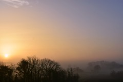 misty morning (Cherryhill Studio) Tags: sunrise mistymorning fog beautifulsky