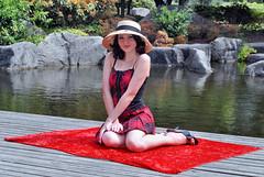 Irina: Lady in Red (ralf_photograph1) Tags: miniskirt heels