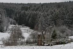 Snow has returned to Bürden! (Gerlinde Hofmann) Tags: germany thuringia village bürden snow march11 landscape conifer tree