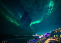 Northern Lights over Disko Bay in Greenland (IzabelaWinter) Tags: greenland disko bay northern lights polarlichter diskobuch