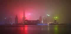 Shanghai - Glowing Fog (cnmark) Tags: china shanghai pudong skyline huangpu river night lights fog nebel long exposure lzb langzeitbelichtung landscape nacht nachtaufnahme noche nuit notte noite eerie creepy spooky 中国 上海 浦东 ©allrightsreserved
