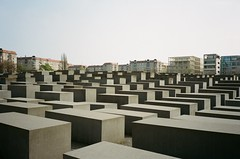 Berlin Holocaust Memorial (iampaulrus) Tags: berlin germany mjuii olympusmjuii lomography portra kodak film filmphotography analog analogue 35mm 35mmfilmphotography film35mm