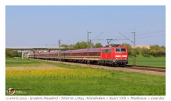Br 111 012 DB - Graben-Neudorf (CC72080) Tags: br111 db euroexpress pèlerin grabenneudorf personenzug extrafahrt extrazug train locomotive lokomotive locomotiva treno pilgerzug
