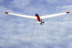 Up , Up and Away (pygarian_nox) Tags: glider sky derbyshire tow abney moor camphill gliding club