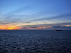 Cargo Ship at Dawn (n1el) Tags: dublin ireland leinster harbour sunrise dawn sky ship ferry irishsea