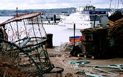 Quayside (* RICHARD M (Over 8 MILLION VIEWS)) Tags: torquay torbay devon england unitedkingdom uk greatbritain britain britishisles islandnation quayside quay lobsterpots yachtmotoryacht harbour water sea boats sailing nautical marine maritime englishchannel scapes ropes baskets