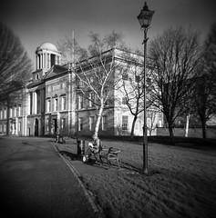 Law Library Dublin (monosnaps) Tags: mono dublininblackandwhite olddublin eddiemallin lawlibrary architecture toycamera jamesjoyce king'sinns henriettast 120film rodinal hp5 holga monosnaps film dublin ireland