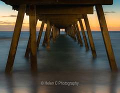 Jetty Sunset (Helen C Photography) Tags: jetty pier ocean beach waves water calm serenity sunset glenelg south australia nikon d750 50mm long exposure evening