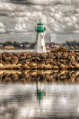 Prescott Ontario - Canada -  Sandra S Lawn Harbour  and Marina - Reflection - Light House (Onasill ~ Bill Badzo - 62 Million - Thank You) Tags: reflection reflections lens macro sigma sl1 rebel eos canon onasill site attraction heritage ships tall motor sail boats dock downtown marina harbour river lawrence st ontario lake grenvillecounty leedscounty canada on brockville sky boat clouds water bay prescott walk sea lakeontario lawerence 18250mm ship light house lighthouse rock