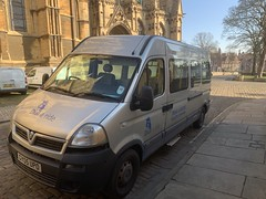 Bus 2 at Lincoln Cathedral (BiggestWoo) Tags: vauxhall movana movano minibus bus dret dial ride dialaride grimsby cleethorpes lincoln cathedral